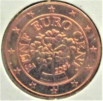 Austria  2002  5 Euro Cents  KM-3084  BU