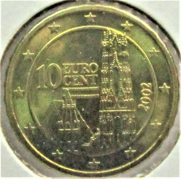 Austria  2002  10 Euro Cents  KM-3085  BU