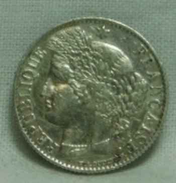 1872A France Silver 50 Centimes