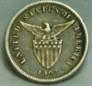 1903 Philippines United States Administration Silver 10 Centavos