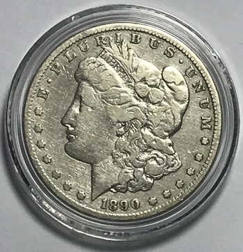 1890-CC Carson City Minted Morgan Silver Dollar
