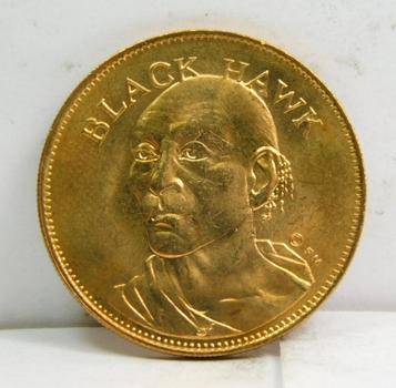 "Black Hawk Bronze Commemorative Coin/Medallion - The Sauk Tribe - 1"" in Diameter"