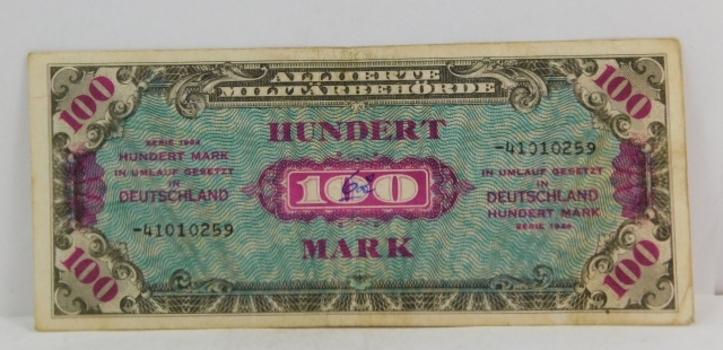 1944 Germany 100 Mark Crisp Banknote