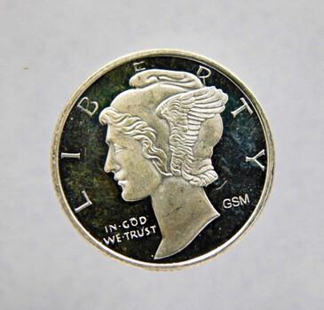 .999 Fine Silver 1/10 Oz. Silver Round Mercury Dime Design