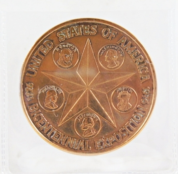 Bicentennial Exposition 1976 United States of America Medallion