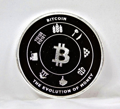 BITCOIN*One Troy Ounce .999 Fine Silver*Bitpay*The Evolution of Money