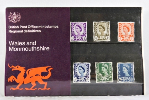 British Post Office Mint Stamps*Six Stamps*Wales and Monmouthshire