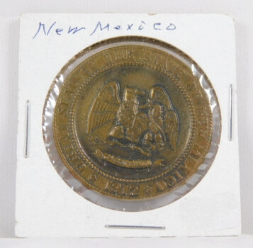 """Bronze 1962 50th Anniversary New Mexico Commemorative Medal 1.25"""" Diameter"""