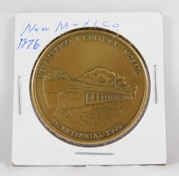"Bronze 1976 Bicentennial New Mexico Commemorative Medal 1.5"" Diameter"