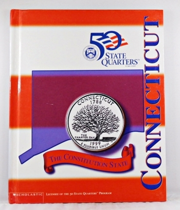 Connecticut*Beautiful 28 Page Book For the State Quarter Collector*Quarter is Not Included*Maps, History, Recipie