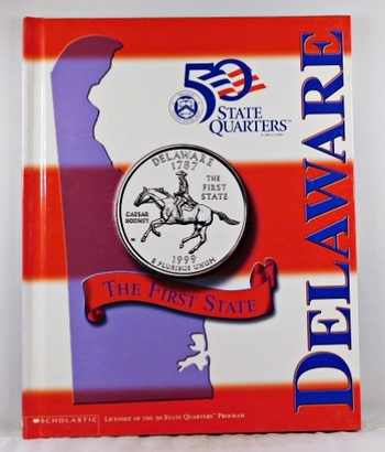 Delaware*Beautiful 28 Page Book For the State Quarter Collector*Quarter is Not Included*Maps, History, Recipie