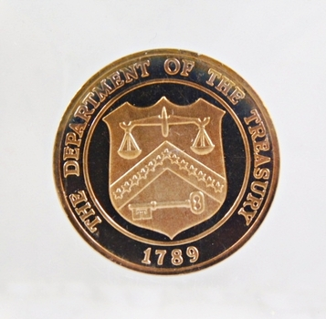 Department of Treasury Proof Medallion*Out of a United States Proof Set