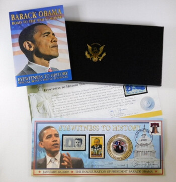 Eyewitness To History Obama Coin And Stamps Set