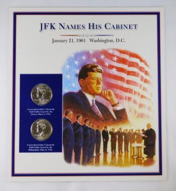 JFK Names His Cabinet With 2 1996 Half Dollars High Grade