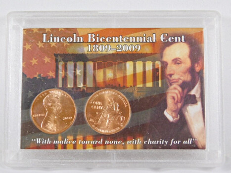 Lincoln Bicentennial Cent Formative Years in Whitman Packaging