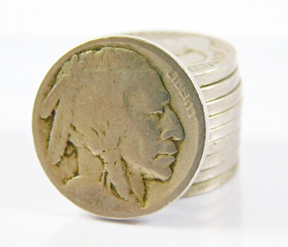 Lot Of 10 Dateless Buffalo Nickels