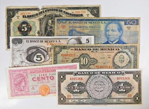 Lot of 12 World Notes: Honduras, Mexico, Jamaica