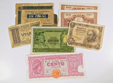 Lot of 12 World Notes*Algeria, France, Spain and More