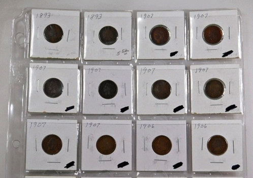 Lot of 18 Indian Head Cents and 2 Lincoln Head Cents*Various Dates and Grades