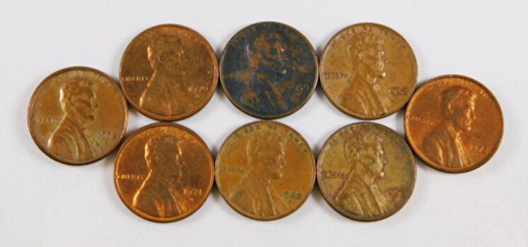 Lot Of 8 Lincoln Memorial Cents 1959-D 1960-D 1962-D 1963-D 1970-D1971-D 1972-D 1972-D