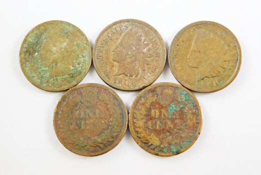 Lot Of Fine Indian Head Cents 1897 1900 1901 1903 1906