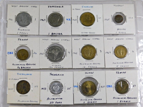 Lot of Twenty (20) World Coins - At Least 6 Countries Represented - Most Coins in Unc. Condition