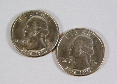 Lot of Two 1976-D Bicentennial Quarters*Uncirculated