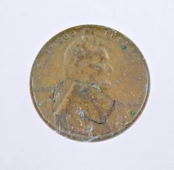 MINT ERROR - 1944 Lincoln Wheat Cent - Lamination Error