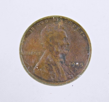 MINT ERROR - 1945-S Lincoln Wheat Cent - Die Crack; Liberty