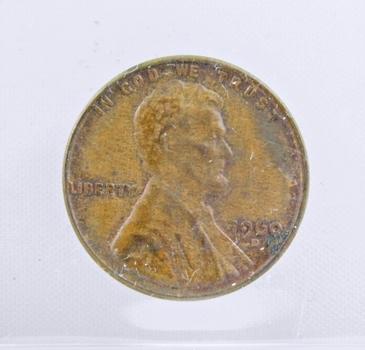 MINT ERROR - 1960-D (sm date) Lincoln Wheat Cent - Filled BUS Die Error - Var 1