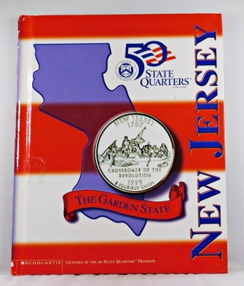 New Jersey*Beautiful 28 Page Book For the State Quarter Collector*Quarter is Not Included*Maps, History, Recipie