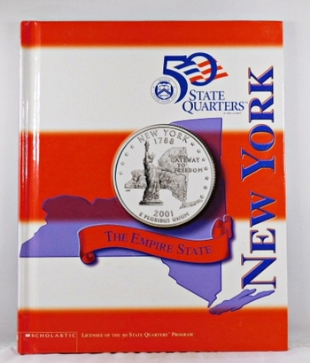 New York*Beautiful 28 Page Book For the State Quarter Collector*Quarter is Not Included*Maps, History, Recipie