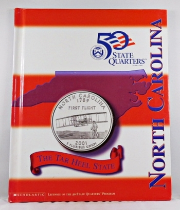 North Carolina*Beautiful 28 Page Book For the State Quarter Collector*Quarter is Not Included*Maps, History, Recipie
