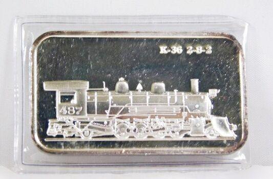 One Troy Ounce .999 Fine Silver Bar * Class K-36 2-8-2