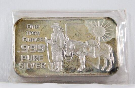 One Troy Ounce .999 Fine Silver Bar - Nevada; The Silver State - Nevada Coin Mart