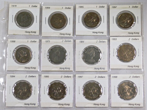 Page Of 16 World Coins From Hong Kong