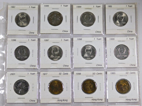 Page Of 17 World Coins From Hong Kong
