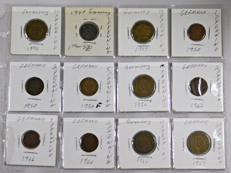 Page Of 18 World Coins From Germany