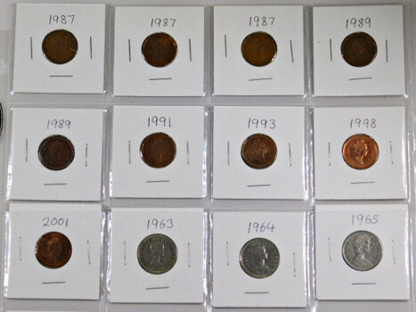 Page Of 20 World Coins From Canada