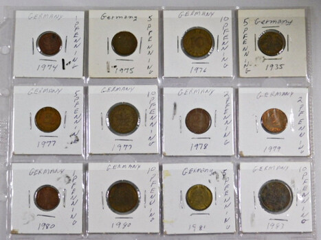 Page Of 20 World Coins From Germany