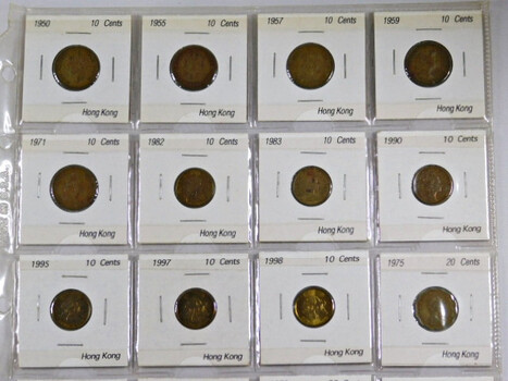 Page Of 20 World Coins From Hong Kong