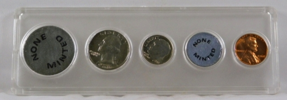 Partial 1968 Mint Set in Brand New Holder*Included is the 1968 Quarter, Dime and Cent