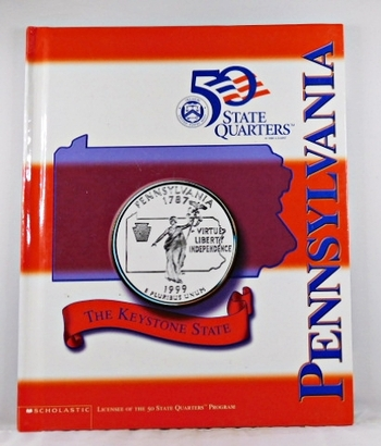 Pennsylvania*Beautiful 28 Page Book For the State Quarter Collector*Quarter is Not Included*Maps, History, Recipie
