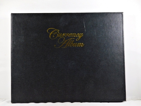 Pre-owned Currency Album*Seven Double Sided Sheets*Each Sheet Hold 4 Notes*Nice*Scratch on Front