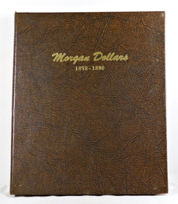 Pre-owned DANSCO Morgan Dollars Collection Album 1878-1890*Good Condition*Writing on Inside Pages