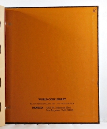 Pre-owned DANSCO Morgan Dollars Collection Album 1891-1921*Good Condition*Writing on Inside Pages