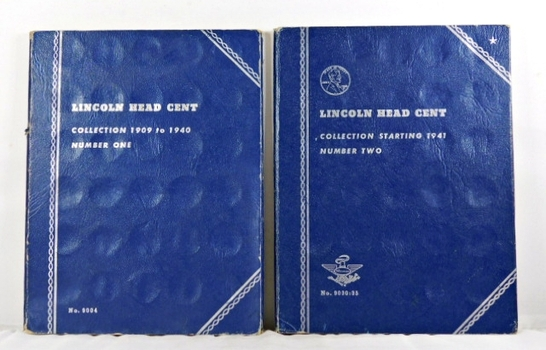Pre-owned Lot of Two Whitman Lincoln Cent Collection Albums: Number One 1909-1940 & Number Two Starting 1941