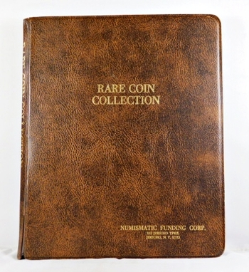 Pre-owned Rare Coin Collection Album*Four Sheets of Protective Coin Covering*Does Have Tape on Album Face