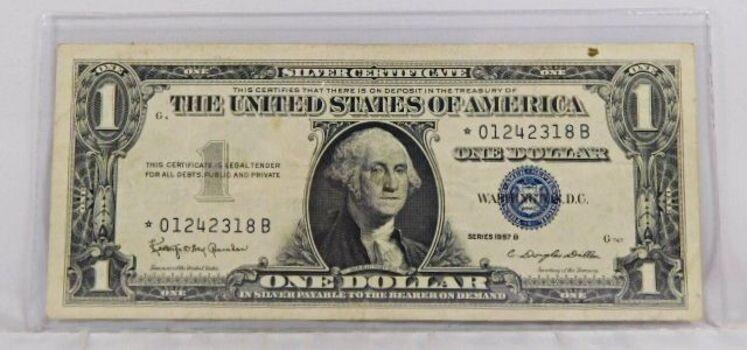Series 1957B $1 Silver Certificate Star Note - Crisp Paper