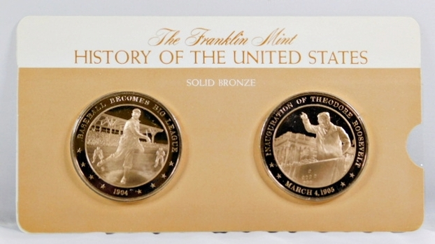 Solid Bronze Commemoratives - Baseball Becomes Big League, 1904 & Inauguration of Theodore Roosevelt, 1905